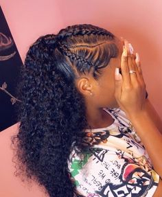 Black Girls Hairstyles : (notitle) Sharing is caring, don't forget to share ! Hair Ponytail Styles, Weave Ponytail Hairstyles, Black Girl Braided Hairstyles, Curly Hair Styles, Natural Hair Styles, Straight Weave Hairstyles, Stylish Hairstyles, Edges Hair, Hair Laid
