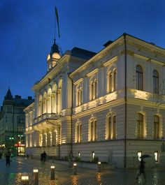 City hall in Tampere Lighting by VALOA design