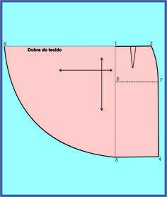 A modelagem plana oferece muitas opções de efeitos de assimetria e volume. Um exemplo, é o traçado desta saia, que tem o efeito godê na...