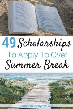 49 Scholarships To Apply To Over Summer Break - The Scholarship System Summer break is not a time to STOP thinking about college funding. Here are 32 scholarships to apply for over the summer break. Financial Aid For College, College Fund, College Planning, Online College, Education College, College Dorms, Financial Planning, Education Degree, Health Education