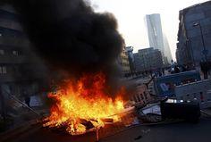 Protestos violentos em Frankfurt na abertura da nova sede do BCE