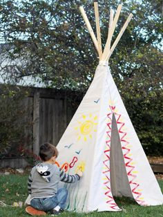 How to Make a Drop Cloth Teepee >> http://www.diynetwork.com/decorating/how-to-make-a-kids-teepee-from-a-canvas-drop-cloth/pictures/index.html?soc=pinterest
