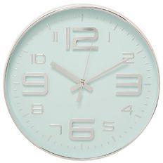Living & Co Wall Clock 3D Plastic Aqua 30cm