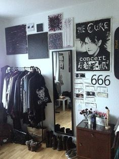 grunge styled bedroom