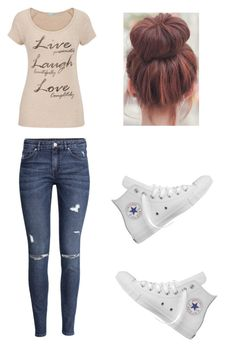 """Casual Day"" by mitchieanne21 on Polyvore featuring maurices, H&M and Converse"