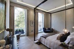 1508 London Park Crescent - luxury interior design, master bedroom with impressionist art.