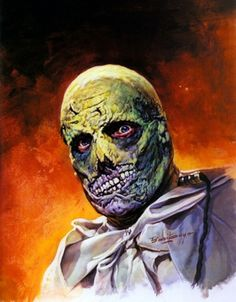 Vincent Price as The Abominable Dr. Phibes as rendored by American illustrator, Basil Gogos, famous for his 60s & 70s Famous Monsters of Filmland cover art