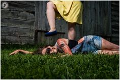 Zombie themed engagement session