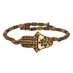 Hamsa Wrap by Alex & Ani. Originating from the Hebrew word hamesh, literally meaning five, the hamsa is an ancient talisman that symbolizes feminine power.