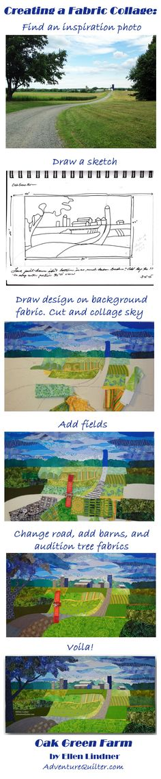 Ellen Lindner gives a glimpse into her process for making art quilts. AdventureQuilter.com