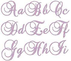 Brock Script Font Machine Embroidery Monogram Set 4x4 Hoop