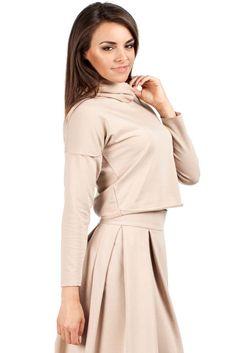 Interesująca bluzka damska z długim rękawem