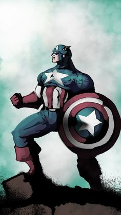 Captain America colored by randomality85 on DeviantArt