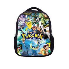 bfbb61d8ec Pokemon Cartoon Style Pokemon Bags For Women Girls Satchel School Bags Cute  Rucksack School Backpack children school book bags