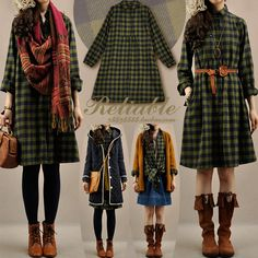 Find More Information about latest dress designs women's clothes fall women vintage medium long plaid shirt turn down collar loose long sleeve dress,High Quality dress videos,China dress shirt box Suppliers, Cheap shirts crafts from Little fresh Morigirl clothing on Aliexpress.com