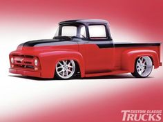 ❤ Best of Trucks @ MACHINE ❤ (1956 Ford F100 Custom Pickup)