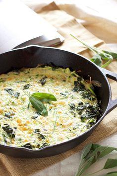 Zucchini, Kale, and Sage Frittata