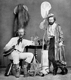 Ernst Haeckel (seated) and his assistant Nikolai Miklucho on the way to the Canary Islands in 1866 - mlkshk