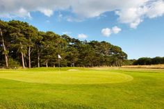 Golf course of Rhuys Kerver, Brittany, France