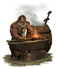 Male Dwarf Weaponsmith - Pathfinder PFRPG DND D&D d20 fantasy