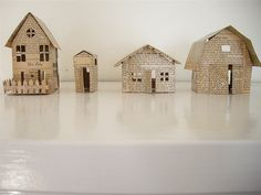 big house, small house, back house, barn. beautifully crafted of paper by @meg