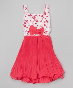 Another great find on #zulily! Hot Pink Lace-Top Swing Dress - Toddler & Girls by Funkyberry #zulilyfinds