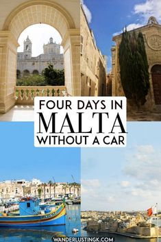 Planning to visit Malta without a car? Your perfect itinerary for four days in Malta without a car including tips for using public transportation in Malta, getting from the Malta airport, and sightseeing in Malta's most beautiful cities in an eco-friendly way. #travel #ecotourism #malta #UNESCO #europe #valleta #gozo Malta Travel Guide, Europe Travel Tips, European Travel, Travel Guides, Places To Travel, Places To See, Travel Destinations, Travel Info, Travel Packing