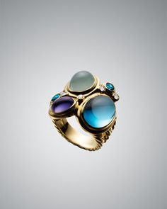 Multi-Stone Oval Mosaic Ring by David Yurman at Neiman Marcus.