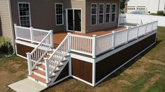 Underpinning around deck  | fished_left_Trex_deck_rail_railing_Barnegat_skirting_decking_deck ...