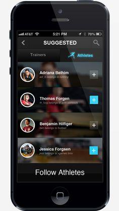 Belong - Sports App by Mikha Makhoul, via Behance