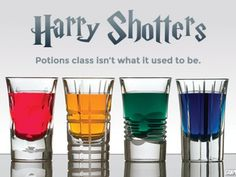 We love a good Harry Potter-inspired recipe — and that goes for cocktails, too. If you enjoyed the first Harry Potter shotters post we shared from our Harry Potter Cocktails, Harry Potter Food, Theme Harry Potter, Harry Potter Gifts, Harry Potter Marathon, Party Drinks, Fun Drinks, Alcoholic Drinks, Disney Drinks