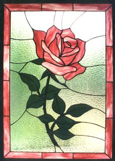 Beautiful Rose ~ http://conceptsinglass.com/images/rose3.jpg. I love stained glass