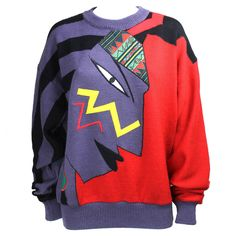 1980s Kansai Yamamoto Sweater | From a collection of rare vintage sweaters at https://www.1stdibs.com/fashion/clothing/sweaters/