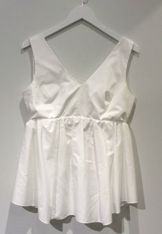 Carven Top Poplin Peplum White Sleeveless Top Womens 34 42 NWT $350 in Clothing, Shoes & Accessories, Women's Clothing, Tops & Blouses | eBay
