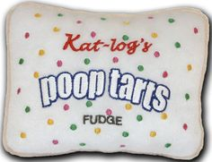 """Poop Tarts"" Plush Squeaker Toy for a Dog with an appetite for fun! Pop Tarts Parody"