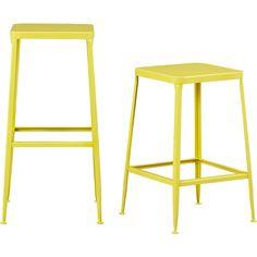 flint yellow bar stools | CB2