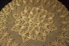 Free pattern: Ravelry: Jesien pattern by Vera Tuszynska or Herbert Niebling Afghan Patterns, Doily Patterns, Knitting Patterns, Crochet Patterns, Lace Doilies, Crochet Doilies, Knit Crochet, Knitted Shawls, Lace Shawls