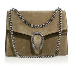 Gucci Dionysus Suede Shoulder Bag (€2.195) ❤ liked on Polyvore featuring bags, handbags, shoulder bags, borse, gucci, apparel & accessories, chain strap purse, suede purse, top handle handbags and brown shoulder bag