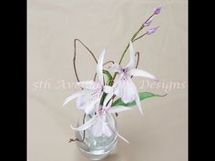 Flower Paste Orchid Tutorial - YouTube