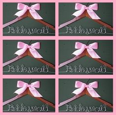 A great gift for your Bridal Party--Personalized Wedding Hangers sold in sets of 7 by TenDollarHangerShop!