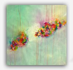 Flower Painting Original Abstract Painting door MilaSchoeneberg