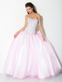 #Jovani style 3606 #JovaniFashions #dress #beaded #crystal #embellished #ballgown #pink #PinkDress Quinceañera