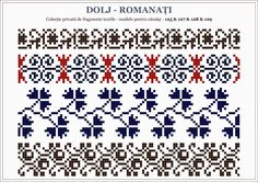 Semne Cusute: traditional Romanian motifs - OLTENIA Textile Patterns, Embroidery Patterns, Knitting Patterns, Beading Patterns, Cross Stitch Patterns, Palestinian Embroidery, Cross Stitch Borders, Stitch Design, Beaded Embroidery