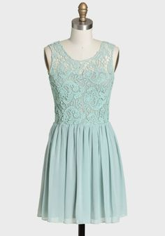 Cherington Crochet Detail Dress In Mint