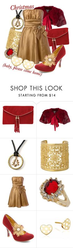 """""""Christmas (Baby Please Come Home)"""" by princesschandler ❤ liked on Polyvore featuring Rare London, Philosophy di Alberta Ferretti, Isharya, Dorothy Perkins, Irregular Choice and Hillier London"""