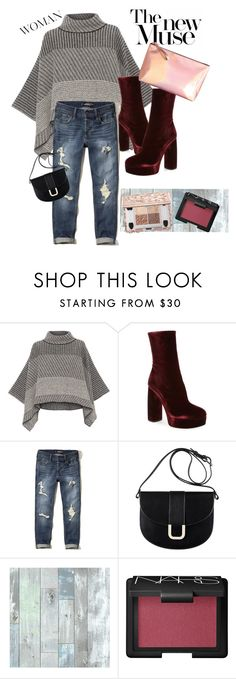 """""""Feelin' Fall"""" by itsjojoyall ❤ liked on Polyvore featuring Piazza Sempione, Miu Miu, Hollister Co., A.P.C., Wall Pops! and NARS Cosmetics"""