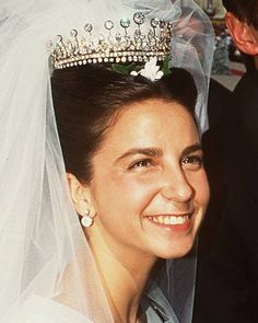 Duchess of Braganza wearing the Diadema D.Luis at her 1995 wedding