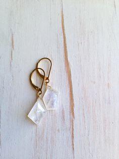Moonstone Earring Faceted Slab Moonstone Drops Moonstone Jewelry Gemstone Jewelry by RobinWoodard on Etsy https://www.etsy.com/listing/225370746/moonstone-earring-faceted-slab-moonstone