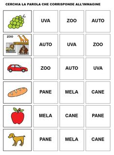 Italian Lessons, English Lessons, Italy For Kids, Italian Vocabulary, Learning Italian, Worksheets For Kids, Fun Math, Primary School, Teaching Math