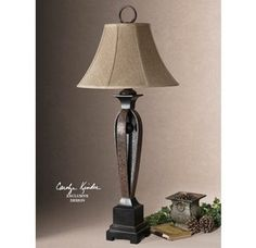Uttermost 26257 Hammered Metal Lamp from the Caballo Collection